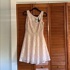 Dresses & Skirts - Blush and lace mini dress